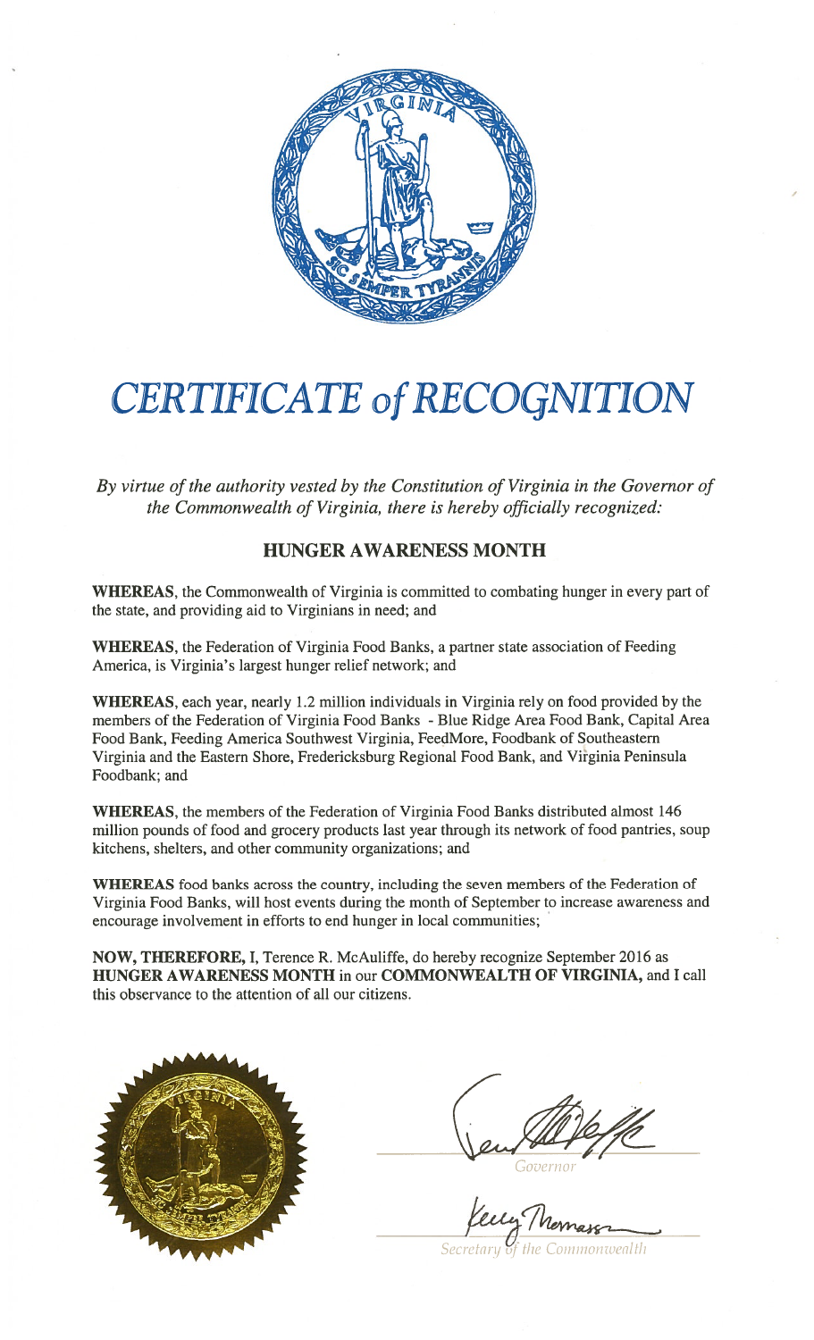 Hunger-Action-Month-2016-proclamation